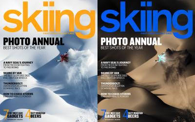 SKIING MAGAZINE – Tero Repo's front cover shot