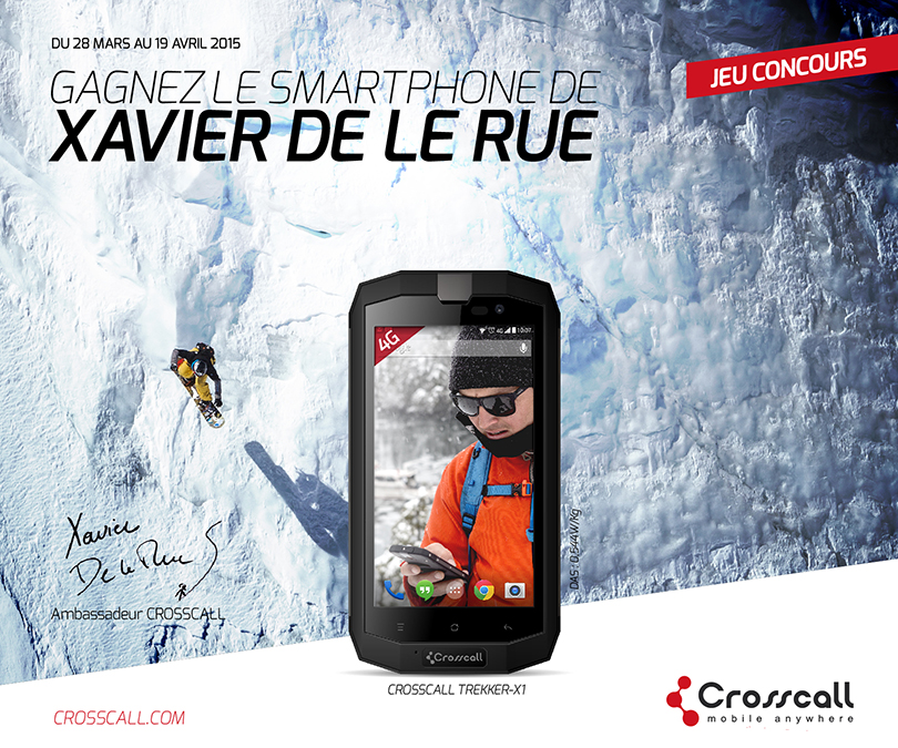 CROSSCALL – Xavier as ambassador to durable smartphone